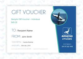 Cruise Gift Certificate Template Whale Watch Gift Voucher Individual