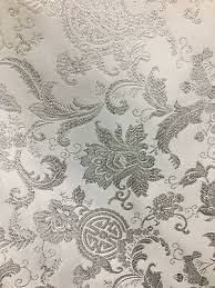 Floral Brocade White Silver Metallic Floral Brocade Fabric 60 In Sold By
