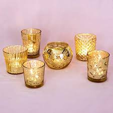 mercury candle holders. Unique Candle Luna Bazaar Best Of Show Vintage Mercury Glass Candle Holders Gold Set  6 In A