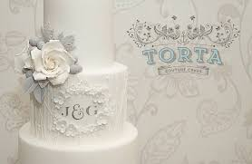 monogrammed wedding cakes. floral framed monogram wedding cake lace grey and white by torta couture cakes monogrammed r