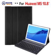 Bao Da Bàn Phím Cho Máy Tính Bảng Huawei MediaPad M5 10 Pro 10.8 CRM AL09  CRM W09 Không Dây Bluetooth Có Thể Tháo Rời Nắp Funda Vỏ máy tính bảng &  e-book
