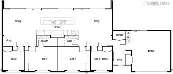 symmetry floor plan with double garage