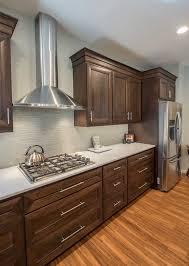 brooklyn park minnesota renovation kitchen remodel cherry cabinets luxury vinyl flooring cambria