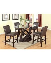 glass top dining room tables. roundhill furniture cicicol 5 piece counter height glass top dining table with chairs, espresso room tables