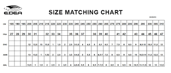 Riedell Figure Skate Size Chart Edea Sizing Chart