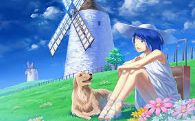 Anime Girl With Her Pet Dog Ultra HD ...