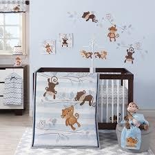 bedtime originals mod monkey 3 piece crib bedding set