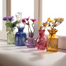 petite glass bud vases set of 5