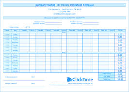 Biweekly Timesheet Calculator 3 Bi Weekly Time Card Procedure ...