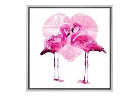 love heart canvas wall art print