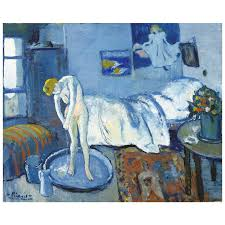 in this painting picasso s blue period is clearly being fully developed the cool hues combined with the strong use of natural light draw the viewer into