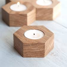 image 0 wooden candle holders geometric tealight
