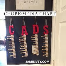 Chore Chart Media Allowance Jamie Ivey