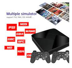 New Game Box Console S905L With WiFi 4K HD 128G 50+ Emulator 40000+ Retro  Games TV Box Video Game Player For PS1/N64/DC/PSP - Super Sale #6092