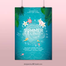 pool splash vector. Plain Pool Poster Summer Pool Party And Pool Splash Vector A