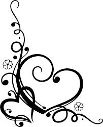Swirl Design Co Love Heart Floral Swirl Vector Free Vector Cdr Download
