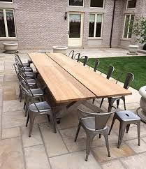 Teak and Stainless Steel Patio Table Traditional Patio