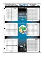 Miniplot Algebra Graphing Kit Six 3 X 3 Sticky Backed