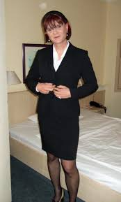 Mature secretary in business suit