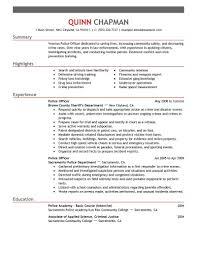 Police Officer Job Description For Resume Best Police Officer Resume