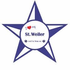 weiler logo. i love my st. weiler (male dog) cutout logo v