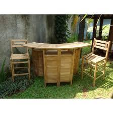 grand cayman folding teak bar table w 2 seville bar chairs