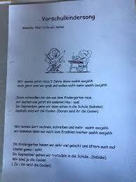 Vorschulkindersong Abschied Einschulung Kinder Song Vorschule