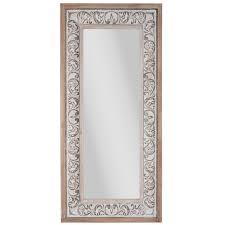 flourish rustic wood wall mirror