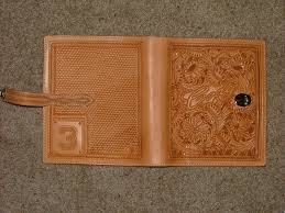 custom made carved leather day planner