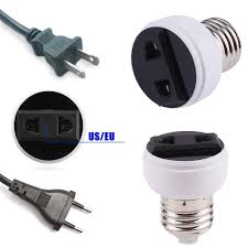 Light Socket To Power Outlet Adapter Light Sockets Adapters Home Garden Lamp Light Light