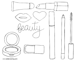 Makeup Coloring Pages Tools Free Printable Coloring Pages
