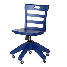 blue desk chair kids chairs by thumbnail 3 faux leather office