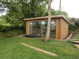 home office in garden. Garden Office Shed. Having Recently Moved Into Their Newly Built House A Shed Home In
