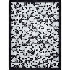 niesha abstract tiles black and white 5 ft x 7 ft area rug