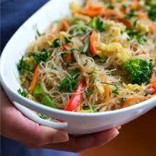stir fried cellophane noodles vegan