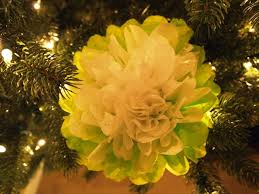 Paper Flower Christmas Tree How To Make Tissue Paper Flower Ornaments For Christmas Petal Talk