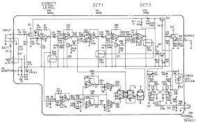 boss oc 2 dual octave down guitar pedal schematic diagram schematic diagram of boss oc 2 octave pedal