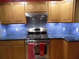 Blue Glass Tiles Kitchen Stunning Blue Recycled Glass Tile Kitchen