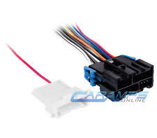 stereo wiring harness chevy car truck stereo cd player radio wiring harness adapter w factory amp wire plug
