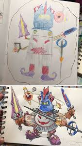 Father And Sons Design Workshop Dad Turns Sons Doodles Into Detailed Anime Characters