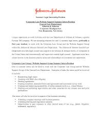 Cover Letter Legal Internship Free Cover Letter