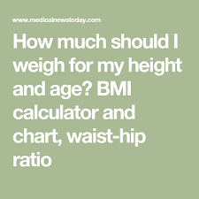 How Much Should I Weigh For My Height And Age Bmi
