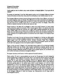 essay on gender co essay on gender