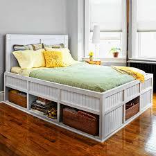 white diy under bed storage frame