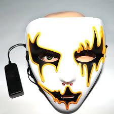 <b>Halloween Mask LED</b> Masks Glow Scary Mask <b>Light up</b> Cosplay ...