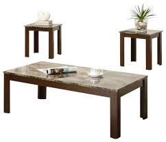coaster 3 piece occasional table sets cocktail and end table set in brown