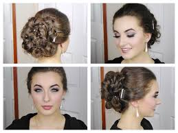 Elegant Prom Hair Style fast and simple curly elegant updo for prom youtube 3145 by wearticles.com