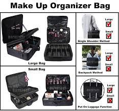 pro makeup cosmetic partment travel storage bag organizer box 2size