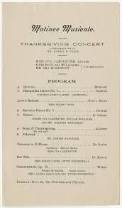 Muncie Matinee Musicale program, 1909-11-23 - Muncie Matinee Musicale  Collection - Ball State University Digital Media Repository