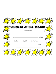 Student Of The Month Certificates 5th Grade Student Of The Month Certificate Template Download